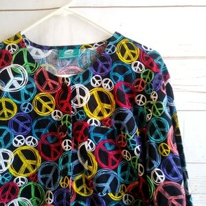 Crayola Threads Barco Peace Scrub Long Sleeve Top